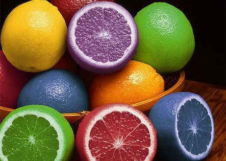 dye lemons or oranges to match decor of a party