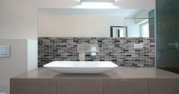 A040 08 bathroom splashback tile tile inspiration for Cheap kitchen splashback ideas
