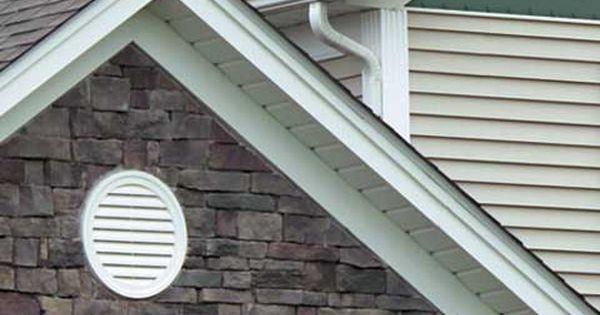 Vinyl Gable Vents Offer Great Attic Ventilation And Maintenance Free Beauty Vinyl Siding Attic Ventilation Gable Vents