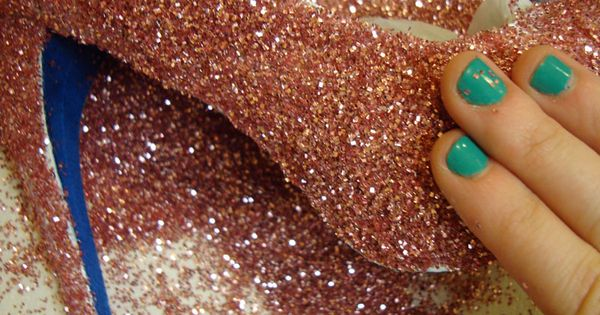 old shoes + glitter = new sparkly shoes!!