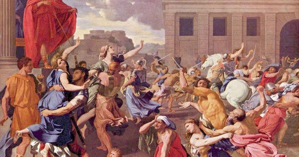 the abduction of the sabine women The abduction of the sabine women the rape of the sabine women side notes his father was a nobleman, who became poor after leaving the regiment he served was a part of the baroque movement had unusual self-awareness and tended to be analytical where his work was concerned.