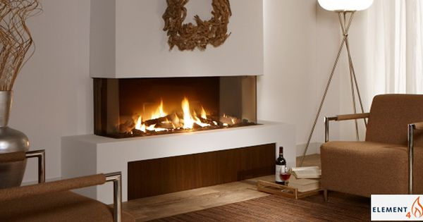 European Design Fireplaces Linear Contemporary 3 Sided