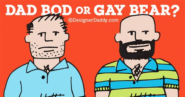 dad bod or gay bear by Designer Daddy | funny | Funny ...