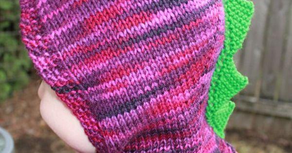 Free knitting pattern for Dinosaur Hood - Designed by ...