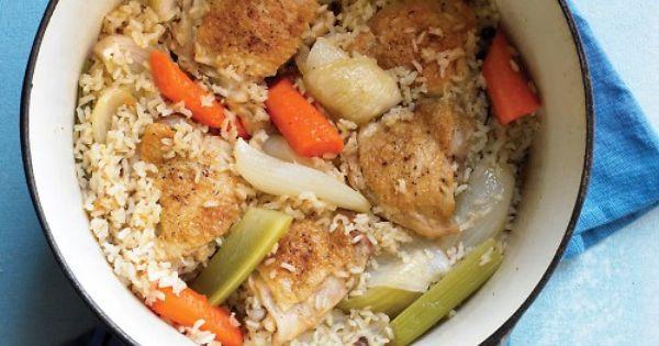 One-Pot Chicken and Brown Rice | Recipe | Brown rice, Martha stewart ...
