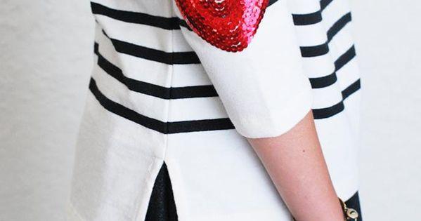 DIY: sequin heart elbow patch