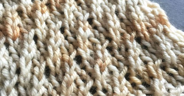 The Weekly Stitch Twisted Stockinette Rib Knitting