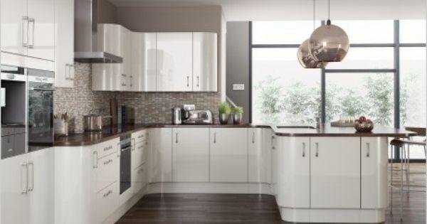 Painted White Gloss Our Kitchens Collection Pinterest - Comment Choisir Hotte De Cuisine