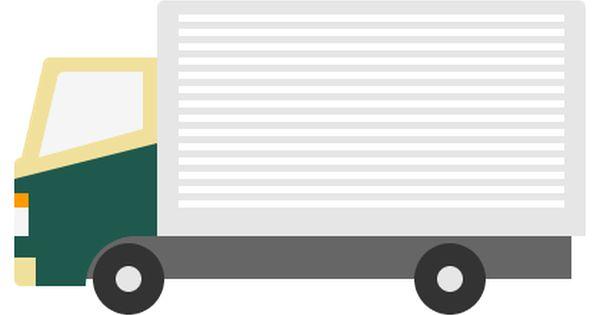 クロネコヤマト運輸風の運送 配達 トラックイラスト 小型 W400