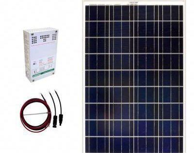 Grape Solar 100 Watt Off Grid Solar Panel Kit Gs 100 Kit The Home Depot Solar Panel Kits Off Grid Solar Panels Solar Panels