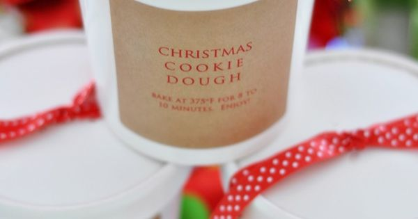 Homemade Christmas Cookie Dough. One of our favorite gifts to give! Great