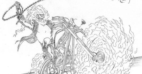 free ghost rider coloring page superheroes coloring