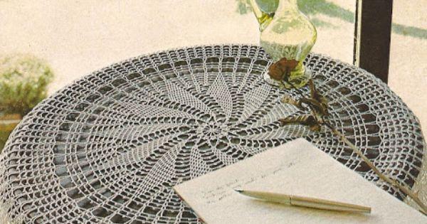 Mantel redondo a crochet - Esquema punto estrella crochet ...