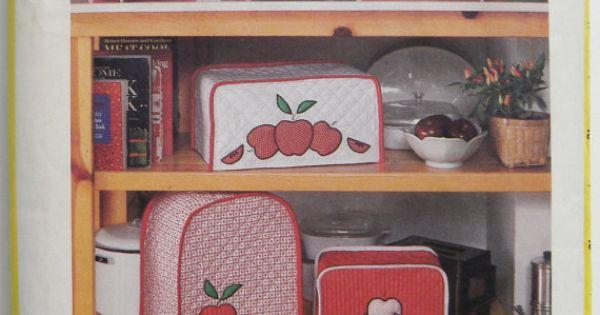 Kitchen Appliance Cover Vintage Retro Pattern Simplicity 127 Appliance Covers Retro Pattern
