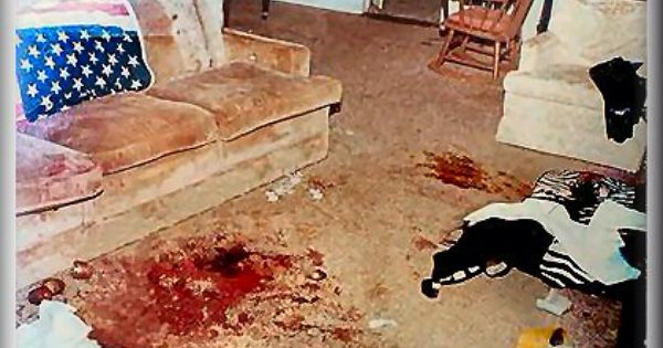 Crime Scene In Living Room
