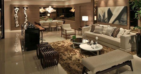 Tons neutros na decora o veja ambientes decorados nas - Paredes decoradas modernas ...