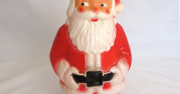 Vintage light up santa  s regal toy made in canada