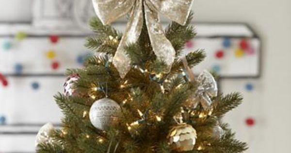 Land of Nod Sequined Bow Tree Topper