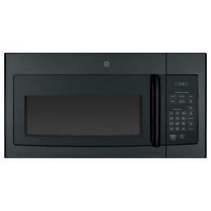 Ge 1 6 Cu Ft Over The Range Microwave In Black Jnm3161dfbb The Home Depot Black Microwave Range Microwave Ge Microwave