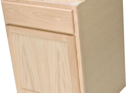 Quality One 24 Quot X 34 1 2 Quot Unfinished Oak Base Cabinet With