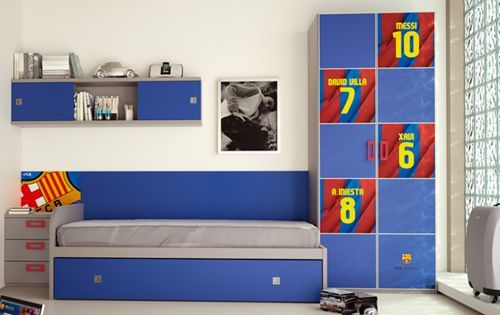 Cuarto del barcelona decoracion pinterest barcelona - Habitacion juvenil barcelona ...