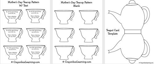 Mother S Day Teapot Card Template Mothers Day Crafts Tea Pots Mothers Day Cards