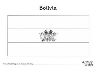 Bolivia Flag Colouring Page Bolivia Flag Flag Coloring Pages Geography For Kids