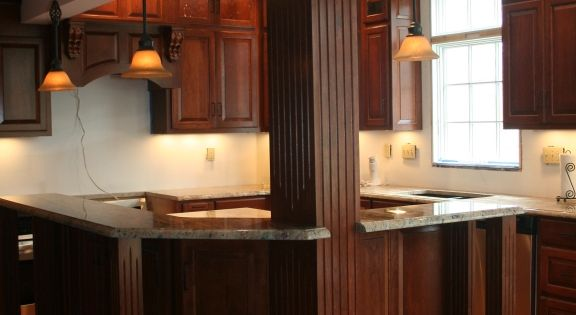 how to construct kitchen cabinets support beam incorporated into island my kitchen 7224