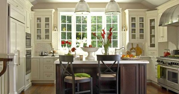 Clean White Kitchen... I Love Everything From The Pretty Windows, Sleek White