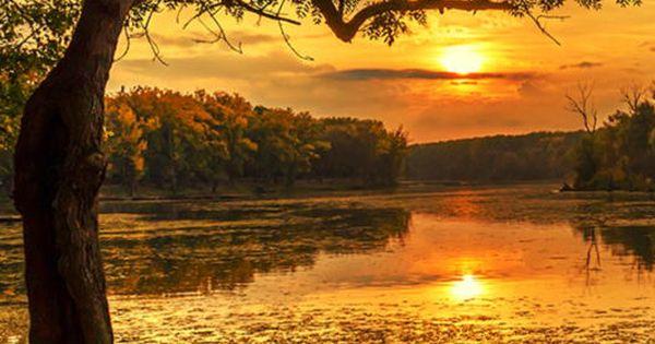 Amazing autumn sunset - Mártély, Csongrád, Hungary (by ...