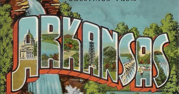 Arkansas Postcard Art Postcard Halftone Art