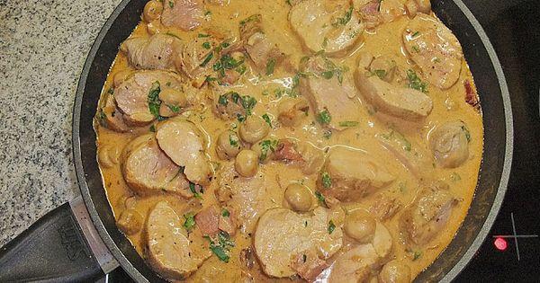 Solomillo De Cerdo Con Salsa De Champi Ones Carne