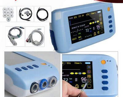 Touch Handheld Patient Monitor Portable 6 Parameter Vital Signs Icu Machine Usb In 2020 Usb Vital Signs Handheld