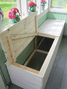 Sailytyspenkki Ideen Balkondekoration Aufbewahrung Balkon