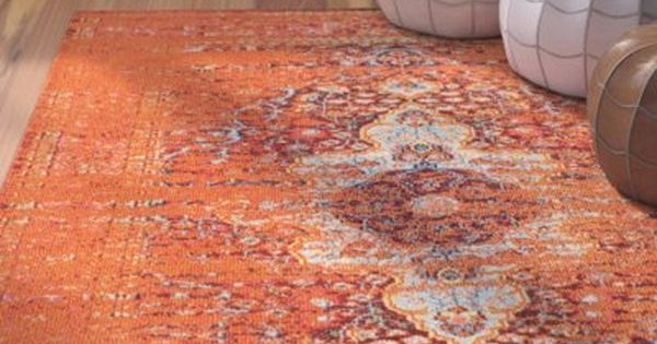Trilochana Mackenzie Orange Area Rug Rugs Orange Area Rug Area Rugs