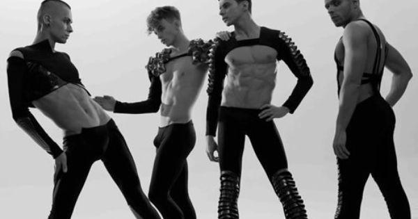 kazaky boys in high heels and makeup dancing like girls