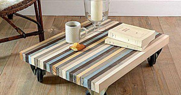 Diy deco pas cher construire une table basse avec des planches en bois co - Construire une table basse ...