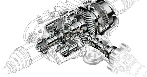 cutaway automotive illustration