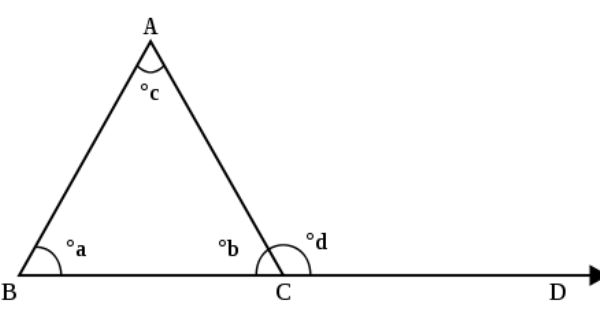 Exterior Angle Theorem The Measure Of An Exterior Angle Of A Triangle Is Greater T Exterior Angles Interior And Exterior Angles Interior Design Courses Online