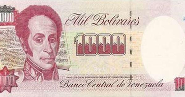 Billete Del Banco Central De Venezuela 1000 Bolivares Billete