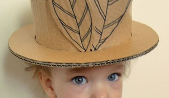 how to make a cardboard easter hat