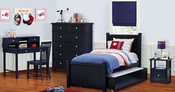 Cafe Kid Parker 4 Piece Twin W Trundle Boys Bedroom Set