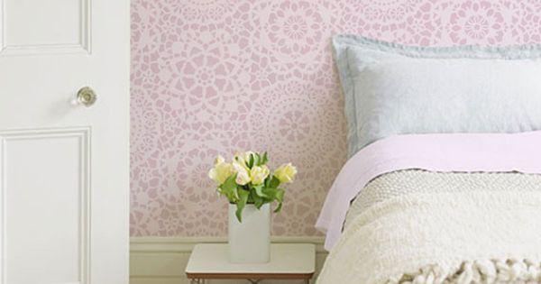 Parlor Lace Allover Wall Stencil | Royal Design Studio