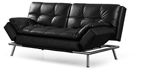 Lifestyle Solutions Camdms3l10bkb Matrix 795 Double Cushion 3 Seater Convertible Sofa With Faux L Leather Sofa Bed Black Leather Sofa Bed Sofa Bed With Storage