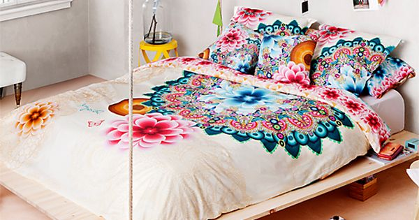 housse de couette percale mandala desigual lit adulte housses de couette et desigual. Black Bedroom Furniture Sets. Home Design Ideas