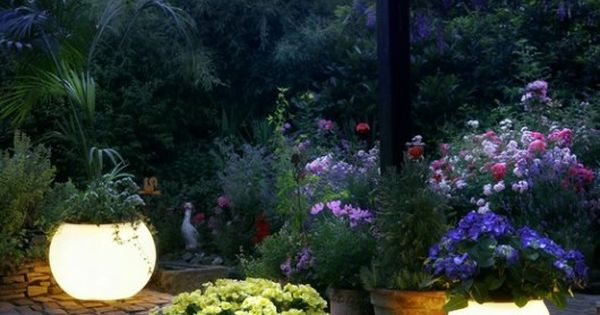 Paint your planters with glow in the dark paint. | 32 Cheap
