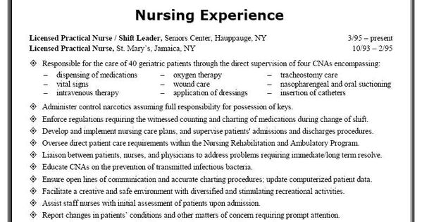 lpn student resume cover letter