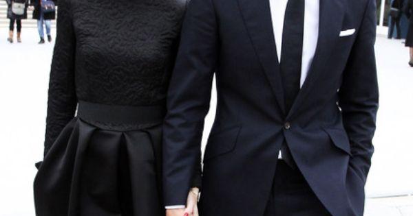{Power couple in black} oliviapalermo black NYC fashionicon