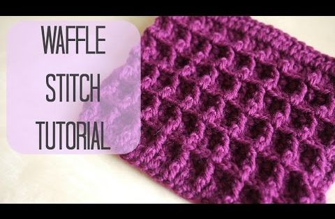 Crochet How To Crochet The Waffle Stitch Bella Coco