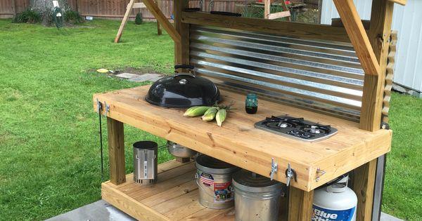 grilling grill weber cooktop weber grill cart garden ideas pinterest grill station. Black Bedroom Furniture Sets. Home Design Ideas